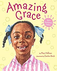 A screenshot of the cover of the book Amazing Grace by Mary Hoffman