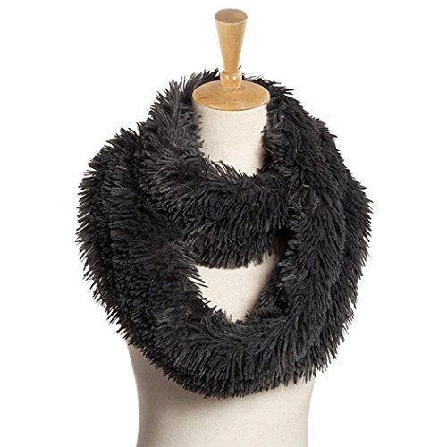 Koly_miscela cerchio sciarpa dello scialle dell'involucro collare delle donne (Grigio)