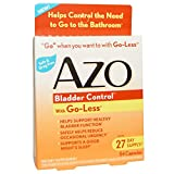 Azo Bladder Control with Go-Less Supplement Capsules - 54 Capsules, Pack of 6