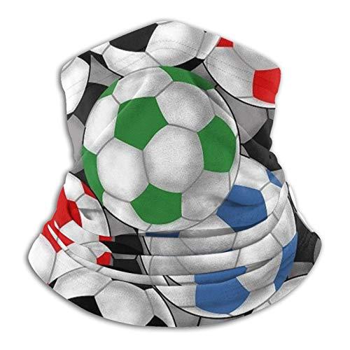 Balones de fútbol de microfibra calentador de cuello bufanda para clima frío invierno deportes al aire libre bandana pasamontañas unisex