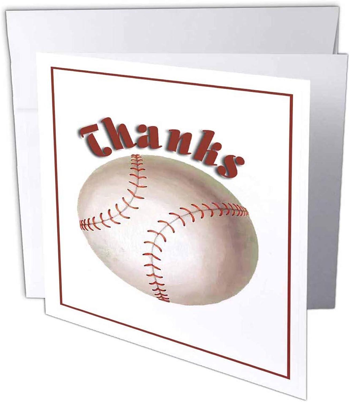 3dRosa gc_13014_1 Grußkarte Thanks, Baseball , 15,2 x 15,2 cm, 6 Stück B07BJCP69C | Qualität und Verbraucher an erster Stelle