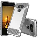 LG G6 Case, JDB Heavy Duty Defender Shock Absorption Impact Resistant Protection Hybrid with Flexible Inner Protection and Reinforced Hard Bumper Frame Case for LG G6 (2017) - Silver Grey