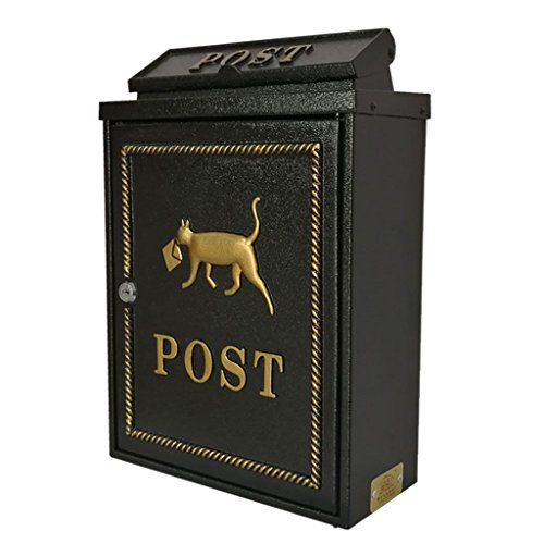 Mailbox Mailbox - High Security Steel Locking Wall Mounted Mailbox - Office Drop Box - Comment Box - Brievenbus - Stortdoos, Zwart Afmeting: 29x13x41cm Wandmontage Letterboxen