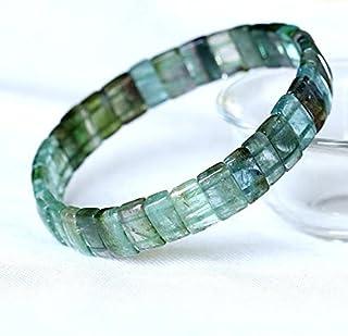 1 hebras naturales verde azul sandía turmalina estiramiento pulsera plana rectángulo granos tamaño: 3x5x9mm 05027
