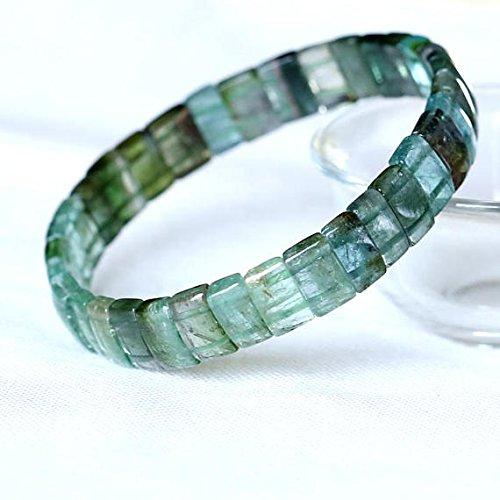1hilos Natural verde azul sandía turmalina pulsera elástica plana rectángulo perlas tamaño: 3x 5x 9mm 05027