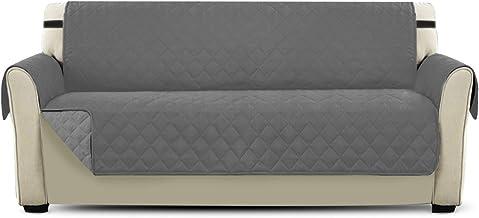 PETCUTE Fundas de Sofa Cubre para Silla Protector de sofá o sillón, Dos o Tres plazas Gris 3 plazas
