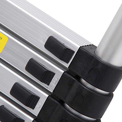 3.2M/10.5FT Telescopic Telescoping Loft Ladder Aluminium Attic Ladder Extendable,Max Load 150kg, EN131 Standard