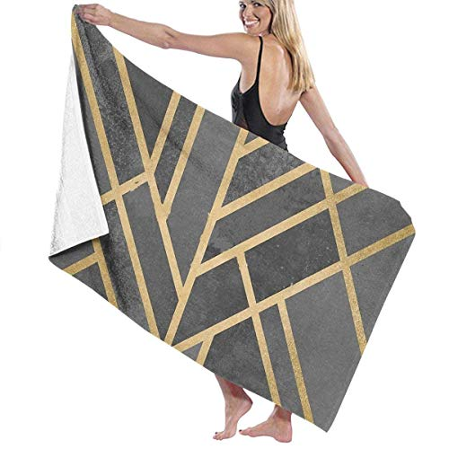"Art Deco Geometry Beach Towel Travel Towels for Camping,Sports,Yoga,Swimming,Gym Quick Dry Bath Towel 31.5"" x 51\"""