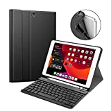 ABOUTTHEFIT Keyboard Case iPad 7th Gen 10.2 Inch 2019, Soft TPU Back Protective