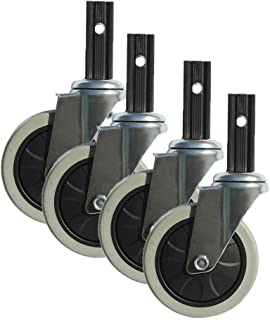 WQF 4 inch Rubber Swivel Castor Wheel,Trolley Meubelwiel,Rustig, Geschikt voor alle soorten eetauto's,Trolleys