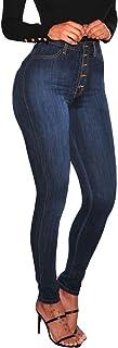 MEIbax Leggings Deportes Vaqueros Pantalones para Mujeres de Mezclilla Delgado Bolsillo Tallas Grandes Leggins Jeans Vaque...