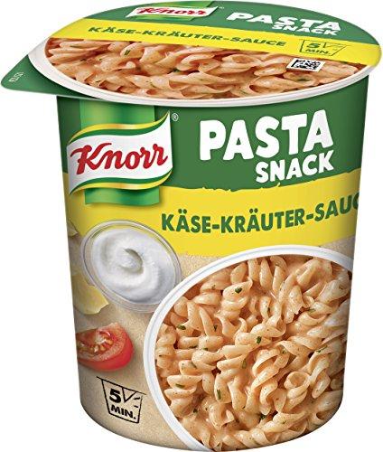Knorr Snack Bar Nudeln in Käse-Kräuter-Sauce, 8er Pack (8 x 65 g)