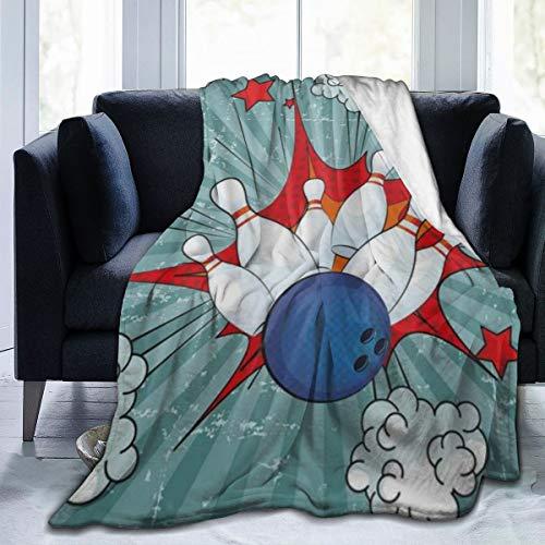 RUBEITA Manta de Microfibra Ultra Suave,Único Retro Comic Cartoon Ball Crash Imagen Pop Stars Aim Party Game,Decoracion para el hogar,calida Manta para sofa Cama,60\X50\