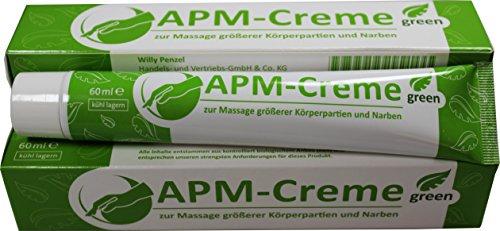APM-Creme green zur Massage größerer Körperpartien und Narben, 60 ml Creme