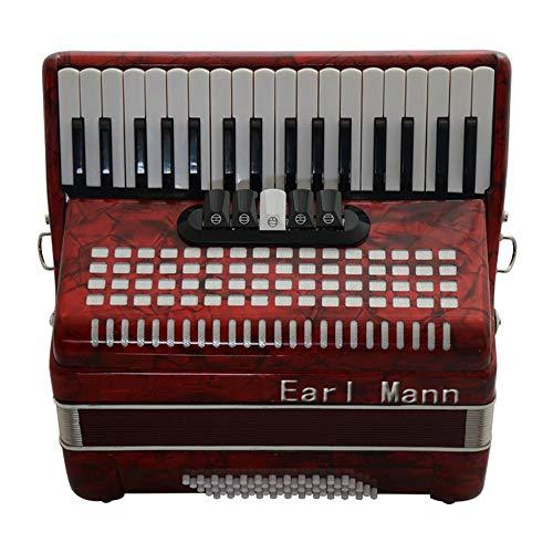 M-zutx Acordeón de 34 teclas con 60 bajos Tocando teclas de piano con sintonizadores Acordeón solista Conjunto de instrumentos musicales Acordeón Acordeón profesional for adultos