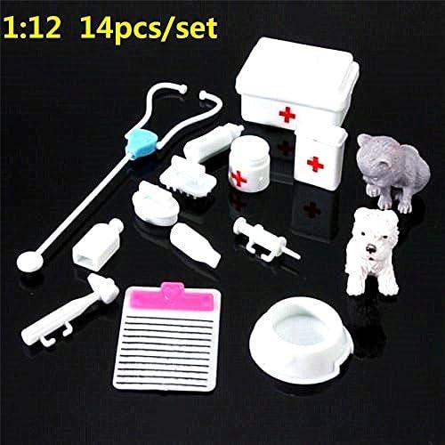 EatingBiting 14Pcs Set Regular discount Mini Dollhouse Med Miniatures Super Special SALE held Doctor Kids