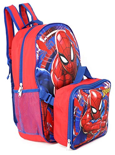Product Image 3: Spiderman Marvel 16″ Backpack with Detachable Lunch Box