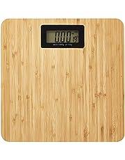 Bilancia pesapersone digitale, max. 180 kg, 28 x 28 x 3 cm, in bambù