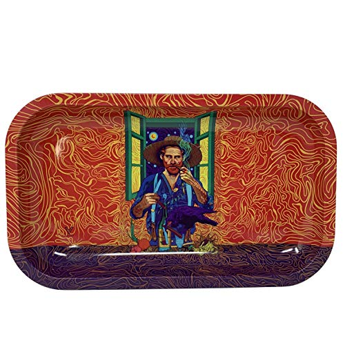 V-Syndicate Medium Metal Rolling Tray - Van Gogh
