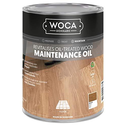 Woca Pflegeöl Braun 1 Liter für bräunlich geölte Holzböden