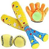 4pcs/set Baby Baseball Toys Set Soft Baseball 4pcs Baby Baseball Toys Sport Toys Children Bat Gloves Ball Kit Kids School Game Playing Gift