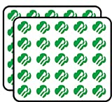Green Girl Scouts Logo Shaped (America Insignia Love My Faces) Sticker for Scrapbooking, Calendars, Arts, Kids DIY Crafts, Album, Bullet Journals 50 Pack