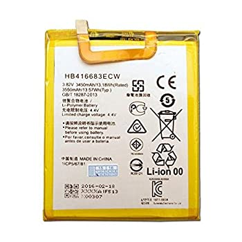 Synergy Digital Cell Phone Battery Works with Huawei NEXUS 6P Cell Phone  Li-Pol 3.8V 3500 mAh  Ultra Hi-Capacity Compatible with Huawei HB416683ECW Battery