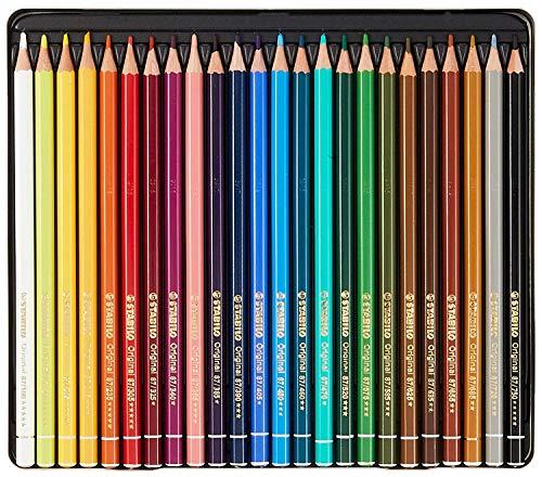 STABILO(スタビロ)『オリジナル24色缶ケースセット硬質水彩色鉛筆』