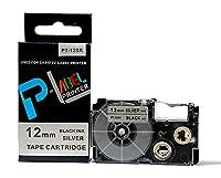 カシオ ネームランド用 互換 テープカートリッジ 12mm XR-12SR 銀地黒文字