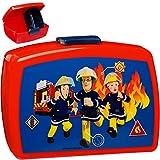 alles-meine.de GmbH Lunchbox / Brotdose -  Feuerwehrmann Sam  - mit extra Einsatz / herausnehmbaren Fach - BPA frei - Brotbüchse Küche Essen - für Jungen - Kinder Vesperdose - ..