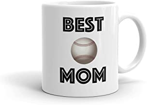 BEST BASEBALL MOM Sports Ball Coffee Mug (11oz) | FREE SHIPPING - Personalized Photo Mug Option Love & Appreciation Mothers Day Gift by Son Daughter Athlete Kids Children | Available in 15oz & for Dad