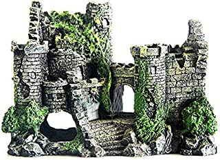 Blumen-Beet アクアリウム 古城 オーナメント 水槽 飾り アクセサリー 水草 無し