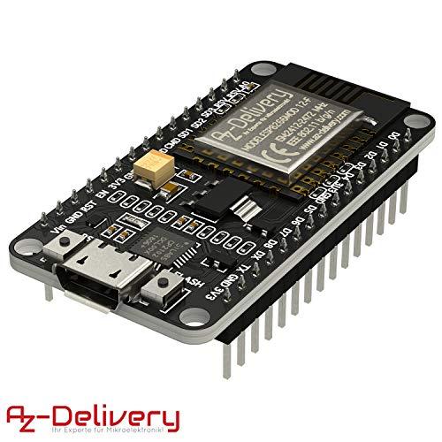 AZDelivery NodeMCU Lua Amica Modul V2 ESP8266 ESP-12F WIFI Wifi Development Board mit CP2102 inklusive E-Book!