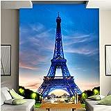 Lovemq Papel De Pared Mural Edificio Clásico De La Ciudad Torre Eiffel Entrada De La Sala Fondo De La Foto Papel Pintado No Tejido Decoración Del Hogar-290X190Cm