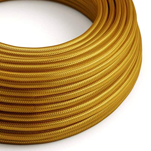 2 Cavi Creative-Cables Fil /Électrique Torsad/é Gaine De Tissu De Couleur Blanc 5 Metri