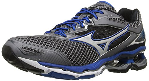 Mizuno Men's Wave Creation 18 Running Shoe, Steel Gray/Skydiver/Silver, 7 D US