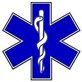 Rogue River Tactical EMS EMT Star of Life Sticker Decal Blue Medical Paramedic Ambulance (8')