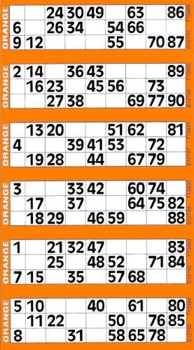 Jumbo Spiele Bingosupermarket - 6 Brettchen und 600 riesige Ticket von Bingo orange