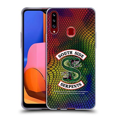 Head Hülle Designs Offiziell Offizielle Riverdale Schlangenhaut-Druck-Logo South Side Serpents Soft Gel Handyhülle Hülle kompatibel mit Samsung Galaxy A20s (2019)