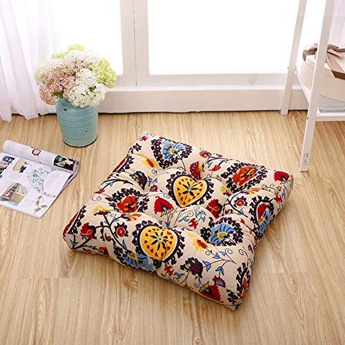 YLCJ Ronde zitting demping, Kussen voor mat stoel Gecapitonneerde futon matras Tatami stoel zwevende venster pads Alle 'open kussen stof-I 50x50cm (20x20inch)