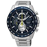 Reloj Seiko ssb259p1 para hombre con caja y brazalete de acero esfera y bisel azul, agujas luminiscentes colección Neo Sports, made Japan 8t67 Reloj Seiko ssb259p1 Neo sport hombre