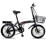 ZYD Bicicletta Pieghevole, Bici Portatili da 20 Pollici a 6 velocità, pendolari Urbani per Bici da...