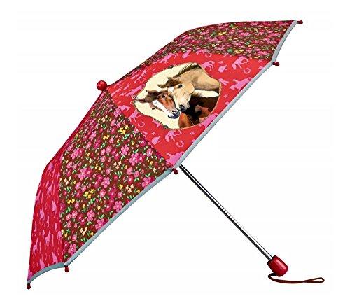 Pferd Friends faltbar Regenschirm mit Reflex Streifen, 33x 80cm, Modell # 11013