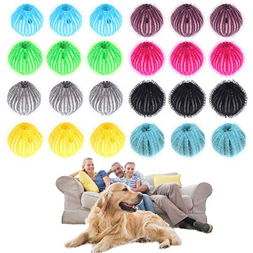 Redcherry, confezione da 24 palline per rimuovere pelucchi e pelucchi, in plastica