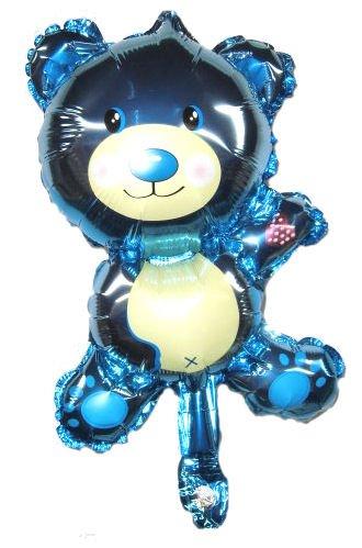 Mini-Folien-LUFTballon 'Teddybär' blau, ca. 25 x 33 cm