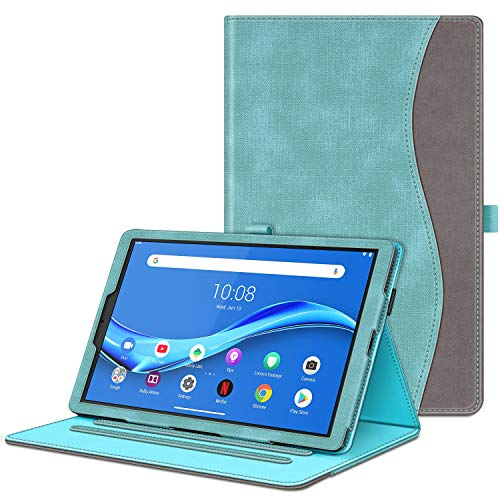 FINTIE Case for Lenovo Tab M10 FHD Plus, [Corner Protection] Multi-Angle Viewing Stand Cover with Card Pocket for Lenovo TB-X606 10.3 -Inch Android Tablet, Denim Turquoise