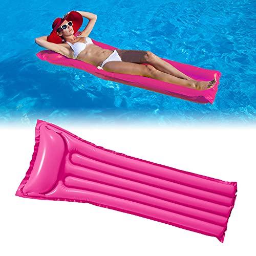 DEEPOW Wasser Hängematte-Aufblasbar Schwimmring Schwimmende Reihe Pool Luftmatratze Matratze Matratzen Strandmatte Floating Lounge Stuhl für Erwachsene und Kinder. (Rot)