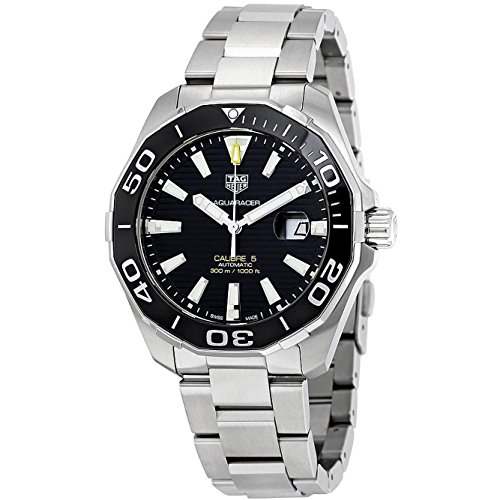 TAG HEUER MEN'S AQUARACER 43MM STEEL BRACELET AUTOMATIC WATCH WAY201A.BA0927