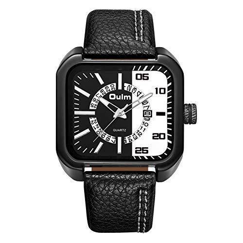Oulm - Reloj de Pulsera para Hombre, diseño Informal, Color Plateado