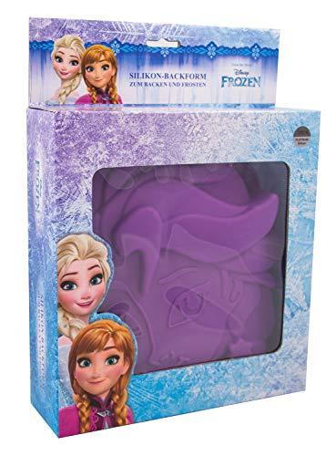 POS 28353 - Silikon Backform Disney Frozen Elsa, ca. 15 x 16 x 4 cm groß, 100 Prozent lebensmittelechtes Platin-Silikon, hitze- und kältebeständig von 230° bis -60°C, Spülmaschinengeeignet